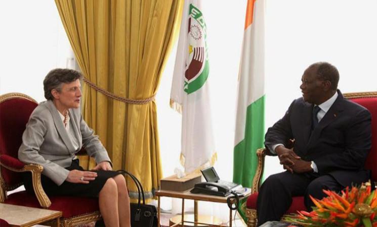 Le Chef de l'Etat a reçu successivement, ce jour, le Greffier de la CPI, le Représentant de la BAD en Côte d'Ivoire, le Président de la CEI et le Gouverneur