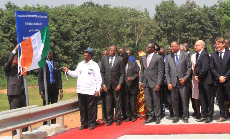Le Chef de l'Etat a inauguré le pont de Bettié