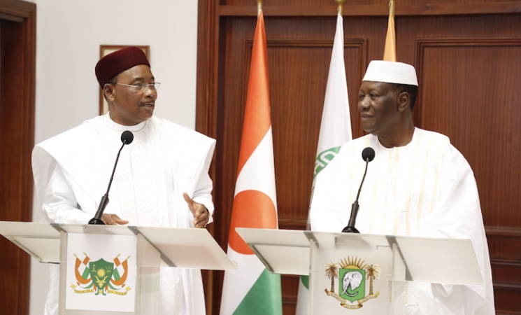 Le Chef de l'Etat a eu un entretien avec le Président du Niger, à Abidjan.