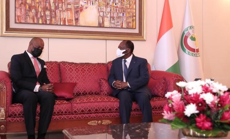 Le Chef de l'Etat a eu un entretien avec le Secrétaire Général de la Zone de Libre-Échange Continentale Africaine (ZLECAF)